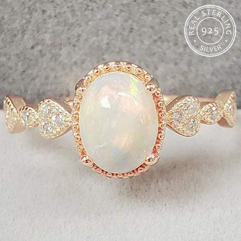 GENUINE ETHIOPIAN OPAL & CREATED WHITE SAPPHIRE 925 STERLING SILVER ADJUSTABLE OPEN RING wholesalekings wholesale silver jewelry