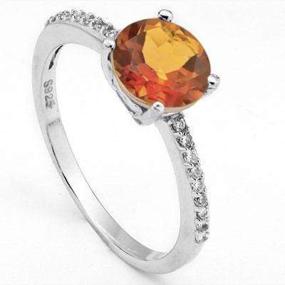 GLAMOROUS 1.85 CARAT AZOTIC GEMSTONE & CUBIC ZIRCONIA PLATINUM OVER 0.925 STERLING SILVER RING - Wholesalekings.com