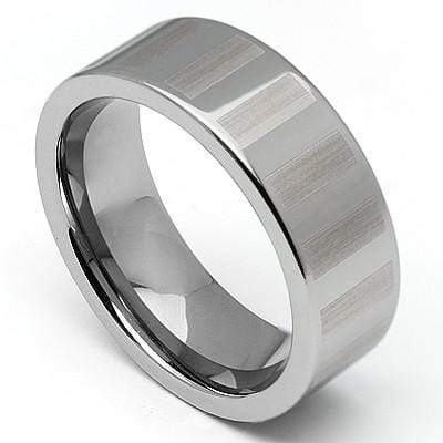 GLAMOROUS FACETED COMFORT FEED CARBIDE TUNGSTEN RING - Wholesalekings.com