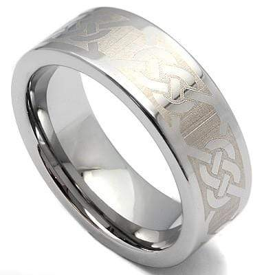 GLAMOROUS KNOT PATTERN CARBIDE TUNGSTEN RING wholesalekings wholesale silver jewelry