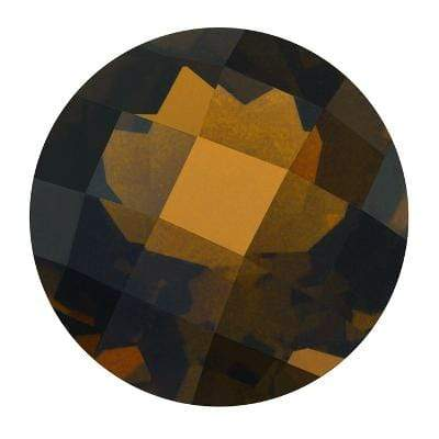 GORGEOUS CHECKERBOARD 7.45-7.60 CT SMOKEY TOPAZ BOLE BROWN GEMSTONE wholesalekings wholesale silver jewelry