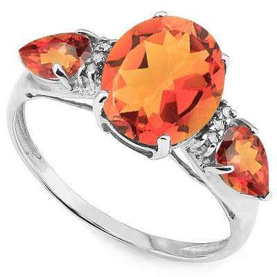 GREAT 3.36 CARAT TW (5 PCS) AZOTIC GEMSTONE & AZOTIC GEMSTONE PLATINUM OVER 0.925 STERLING SILVER RING - Wholesalekings.com