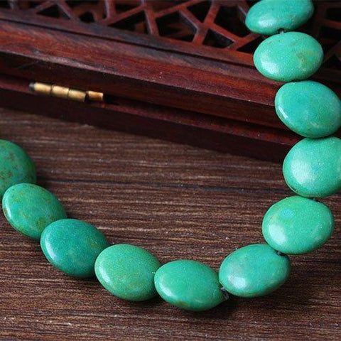 Green Turquoise 12mm Round Beads Stone Single Strand for DIY Jewelry - Wholesalekings.com