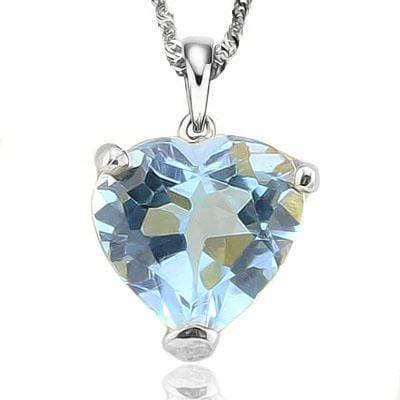 HEAVY 3/5 CARAT BLUE TOPAZ 10KT SOLID GOLD PENDANT - Wholesalekings.com