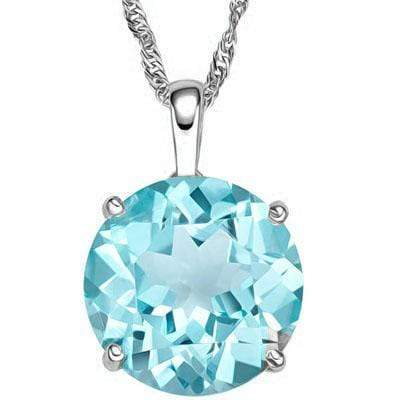 HEAVY 3/5 CARAT BLUE TOPAZ 10KT SOLID GOLD PENDANT wholesalekings wholesale silver jewelry