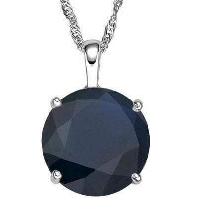 1CARAT GENUINE BLACK SAPPHIRE 18KT SOLID GOLD PENDANT - Wholesalekings.com