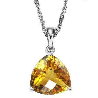 HEFTY 2/5 CARAT CITRINE 10KT SOLID GOLD PENDANT - Wholesalekings.com