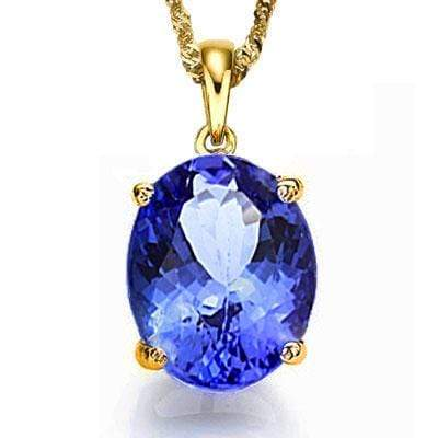 HEFTY 2/5 CARAT GENUINE TANZANITE 10KT SOLID GOLD PENDANT - Wholesalekings.com