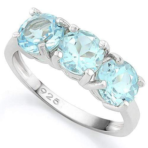 IDEAL ! 9 3/4 CARAT BABY SWISS BLUE TOPAZ 925 STERLING SILVER RING wholesalekings wholesale silver jewelry