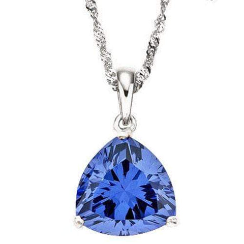 IRRESISTIBLE ! 1/2 CARAT LAB TANZANITE 10KT SOLID GOLD PENDANT - Wholesalekings.com