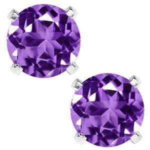 LOVELY 1.50 CT AMETHYST 0.925 STERLING SILVER W/ PLATINUM EARRINGS wholesalekings wholesale silver jewelry