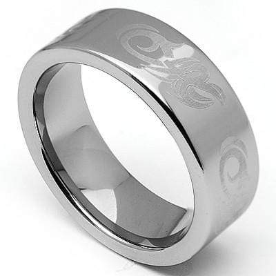 LOVELY LASER ENGRAVED CELTIC CARBIDE TUNGSTEN RING wholesalekings wholesale silver jewelry