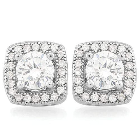 MAGNIFICENT 1 2/3 CARAT (50 PCS) FLAWLESS CREATED DIAMOND 925 STERLING SILVER EARRINGS wholesalekings wholesale silver jewelry