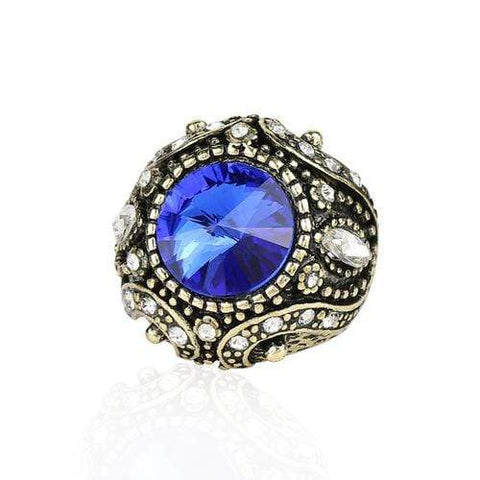 MAGNIFICENT ! 18K GOLD PLATED GERMAN SILVER RING wholesalekings wholesale silver jewelry