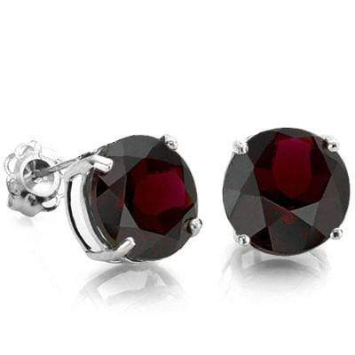 MAGNIFICENT 2.00 CT GARNET PLATINUM OVER 0.925 STERLING SILVER EARRINGS - Wholesalekings.com