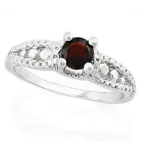 MARVELOUS ! 1/2 CARAT GARNET & DIAMOND 925 STERLING SILVER RING wholesalekings wholesale silver jewelry