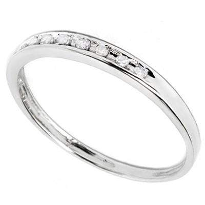 MESMERIZING 0.04 CT WHITE DIAMOND 10K SOLID WHITE GOLD RING - Wholesalekings.com