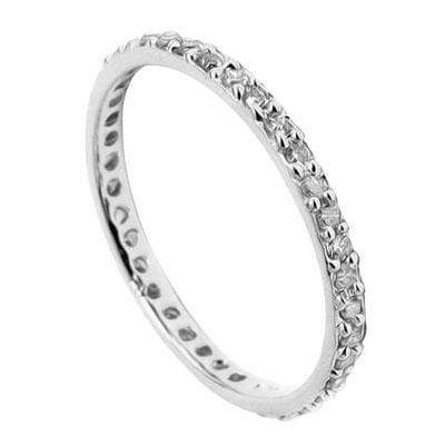 MESMERIZING 0.19 CT GENUINE DIAMOND 10K SOLID WHITE GOLD RING - Wholesalekings.com