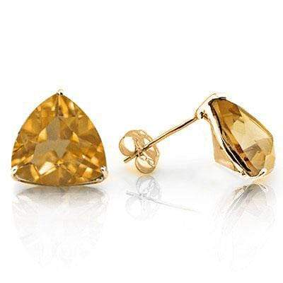 MESMERIZING 0.9 CARAT TW (2 PCS) CITRINE 10K SOLID YELLOW GOLD EARRINGS - Wholesalekings.com