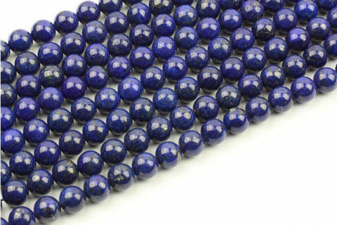 Natural Lapis Lazuli Gemstone Loose Round Beads 8mm Spacer Beads- Single Strand 15 inches for DIY Jewelry wholesalekings wholesale silver jewelry