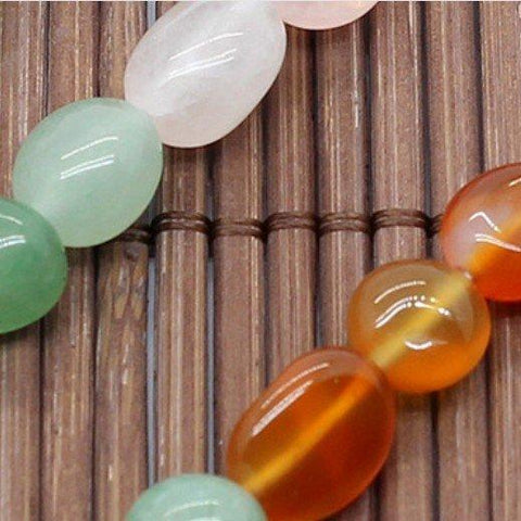 Natural Multicolor Mix Gemstones 6-8mm Free-form Beads Single Strand for DIY Jew - Wholesalekings.com