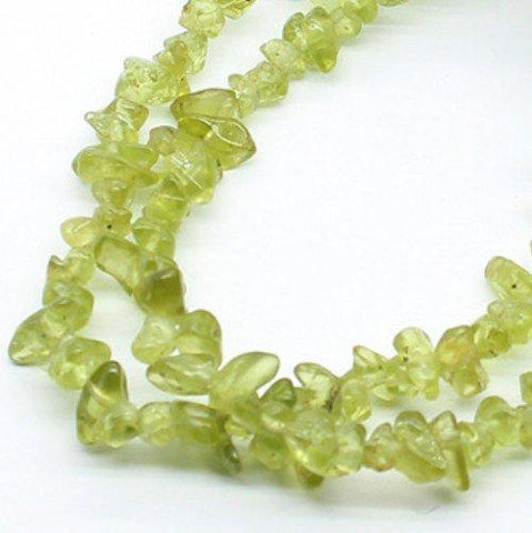 Natural Peridot 3x5mm Free-form Beads Single Strand for DIY Jewelry - Wholesalekings.com