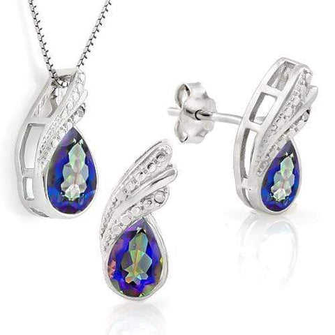 OCEAN MYSTIC GEMSTONE 925 STERLING SILVER WOMEN JEWELRY SET wholesalekings wholesale silver jewelry