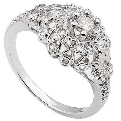 PERFECT 0.34 CARAT TW (29 PCS) GENUINE DIAMOND & GENUINE DIAMOND 10K SOLID WHITE - Wholesalekings.com