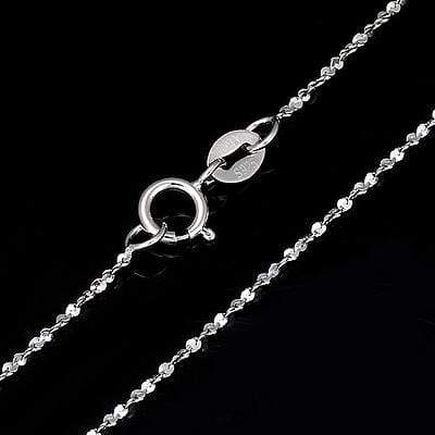PLATINUM OVER 0.925 STERLING SILVER TWIST NECKLACE CHAIN-24 INCHES wholesalekings wholesale silver jewelry