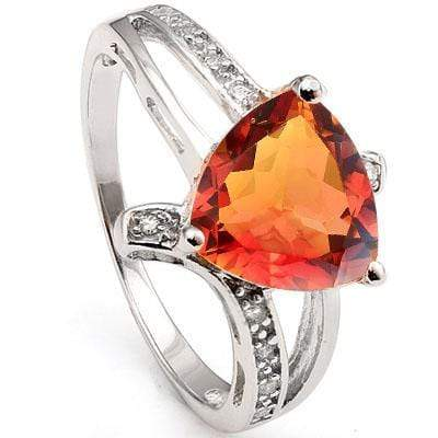 PRECIOUS 2.2 CARAT TW AZOTIC GEMSTONE & CUBIC ZIRCONIA PLATINUM OVER 0.925 STERLING SILVER RING - Wholesalekings.com