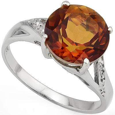 PRETTY 3.5 CARAT TW (1 PCS) AZOTIC GEMSTONE PLATINUM OVER 0.925 STERLING SILVER RING - Wholesalekings.com