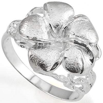 PRETTY PLUMERIA RING WITH 0.925 STERLING SILVER wholesalekings wholesale silver jewelry