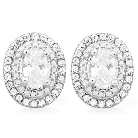 PRICELESS 2 3/5 CARAT (62 PCS) FLAWLESS CREATED DIAMOND 925 STERLING SILVER EARR - Wholesalekings.com