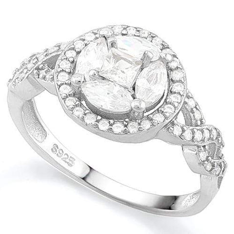 PRICELESS !  5 3/4 CARAT (57 PCS) FLAWLESS CREATED DIAMOND   925 STERLING SILVER RING - Wholesalekings.com