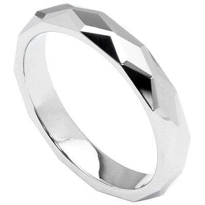 RHOMBUS FACETED CARBIDE TUNGSTEN RING - Wholesalekings.com