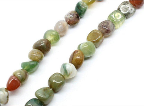 "Single Strands 7-9mm India Agate Loose Round Beads Gem Stone 15.5"" Jewelry DIY wholesalekings wholesale silver jewelry"