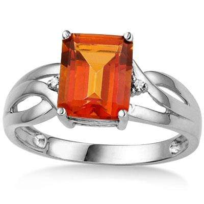 SMASHING 2.19 CARAT TW (3 PCS) AZOTIC GEMSTONE & GENUINE DIAMOND PLATINUM OVER 0.925 STERLING SILVER RING - Wholesalekings.com
