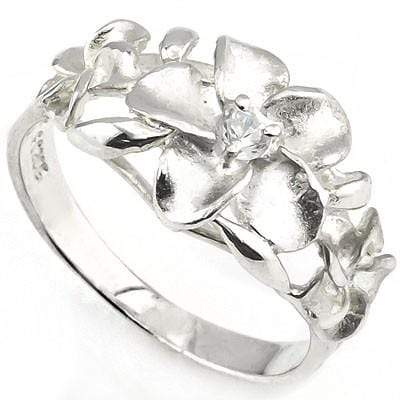 SMASHING PLUMERIA RING WITH 0.925 STERLING SILVER wholesalekings wholesale silver jewelry