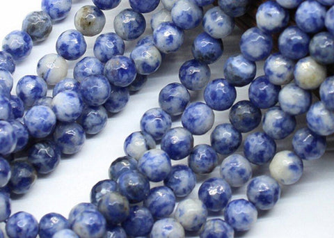"Smooth Round Shape Blue Sodalite Spacer Loose Beads For DIY Necklace Bracelete Jewelry Making Strand 15"" wholesalekings wholesale silver jewelry"