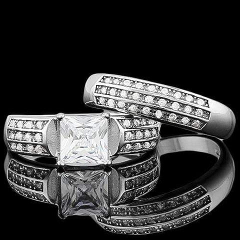 SPECTACULAR ! 4 CARAT (55 PCS) FLAWLESS CREATED DIAMOND 925 STERLING SILVER RING - Wholesalekings.com
