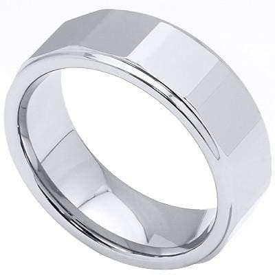 SQUARE FACETED CARBIDE TUNGSTEN RING - Wholesalekings.com
