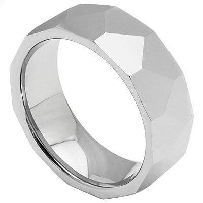 STUNNING FACETED TUNGSTEN RING - Wholesalekings.com