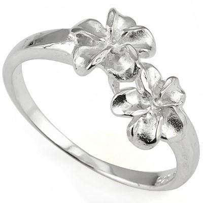 STUNNING PLUMERIA RING WITH 0.925 STERLING SILVER wholesalekings wholesale silver jewelry
