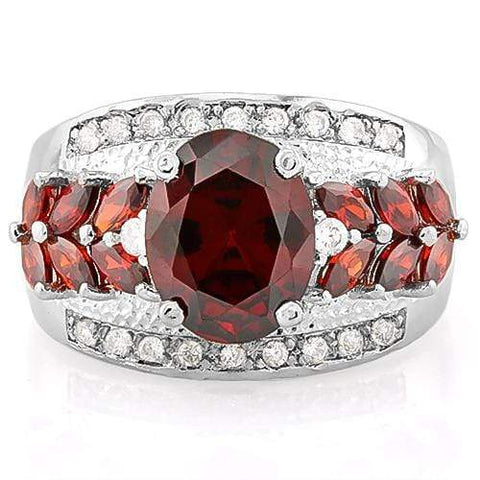 SUPERB ! CREATED RUBY 925 STERLING SILVER RING - Wholesalekings.com