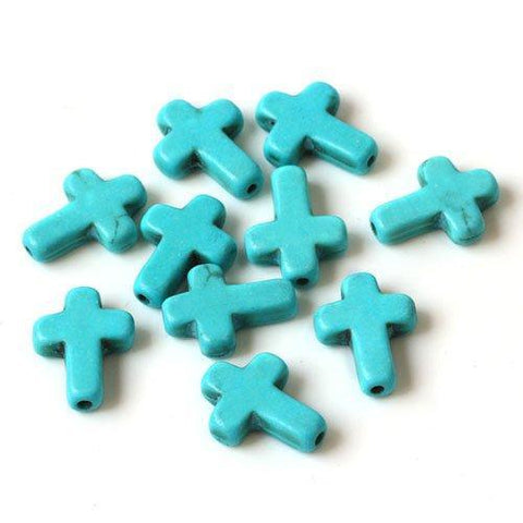 Turquoise 10x8mm Round Beads Single Strand for DIY Jewelry - Wholesalekings.com