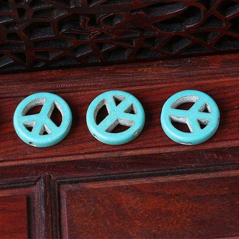 Turquoise 15mm Round Beads Single Strand for DIY Jewelry - Wholesalekings.com