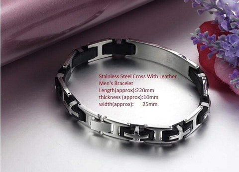 Unique Custom-Made Stainless Steel Men Bracelet jewelry wholesalekings wholesale silver jewelry