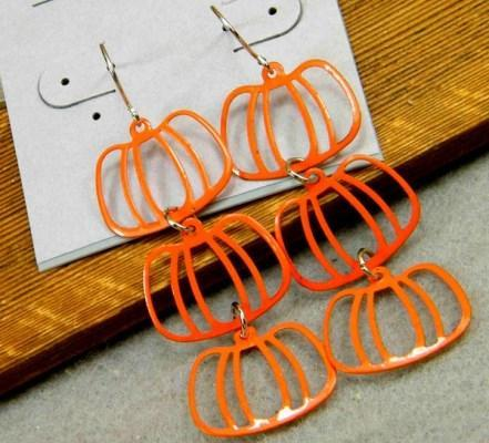 Very Light Pumpkin Alloy Earrings - Wholesalekings.com