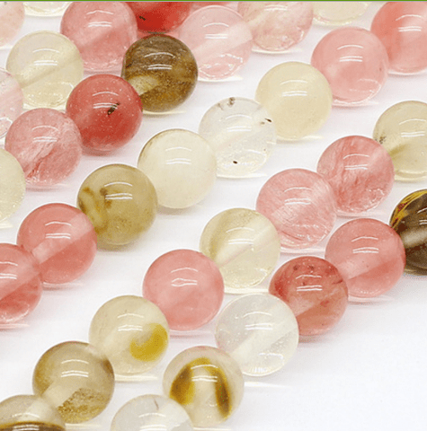 Watermelon Quartz 8mm Round Beads for DIY Jewelry wholesalekings wholesale silver jewelry