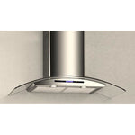 HAS92D-900mm Curved Glass Premium Wallmount Range Hood